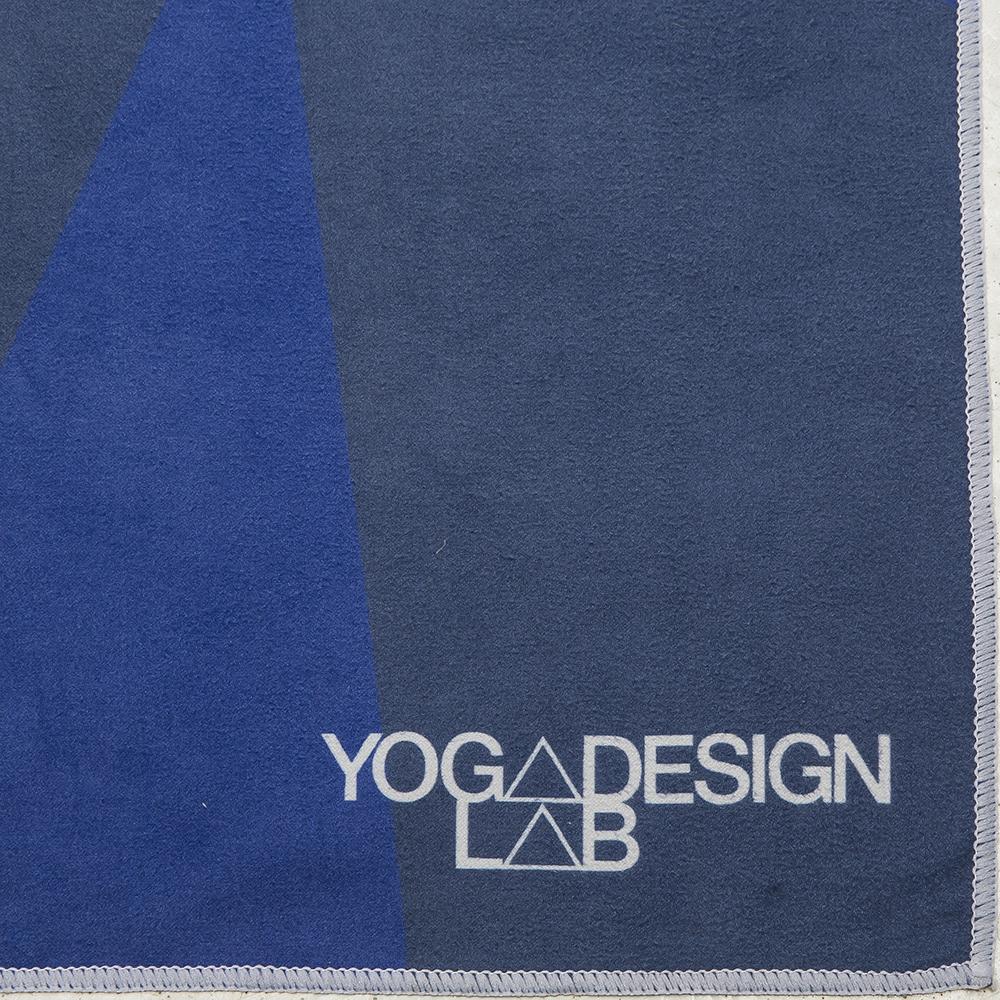 Geo Blue Combo Yoga Mat: Yoga Design Lab Mat Towel Geo Blue