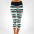 Tříčtvrteční legíny  Manduka Essential Capri Legging Jade Variegated Stripe