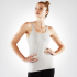 Manduka Cross Strap Cami Light Grey Heather