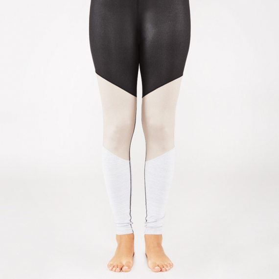 Dlouhé legíny Manduka Radiant Legging Black Sheen