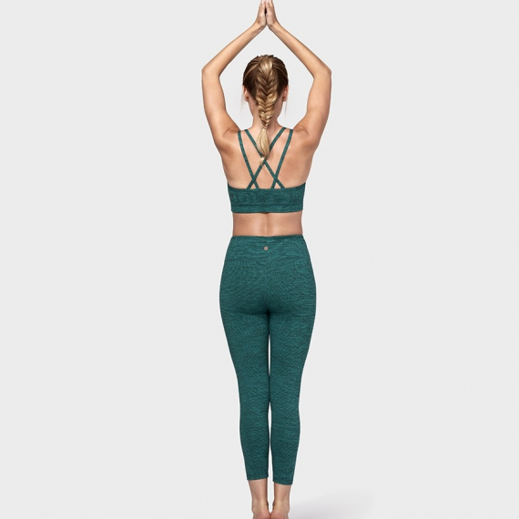 Dlouhé legíny Manduka Essential Cropped Legging Heather Emerald