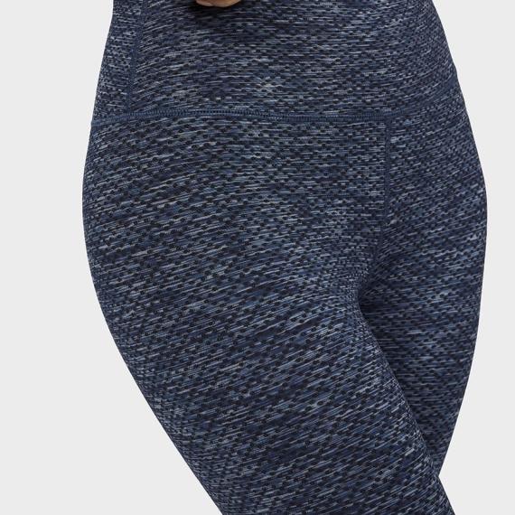 Dlouhé legíny Manduka Essential Cropped Legging Indigo Jacquard