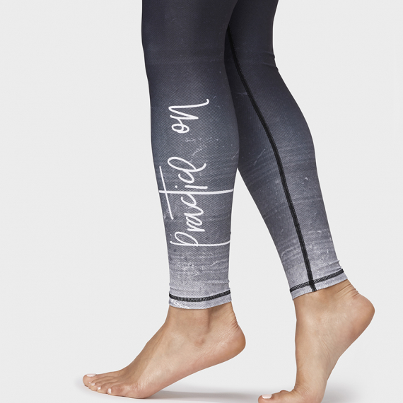 Dlouhé legíny Manduka Practice On Legging Black Multi