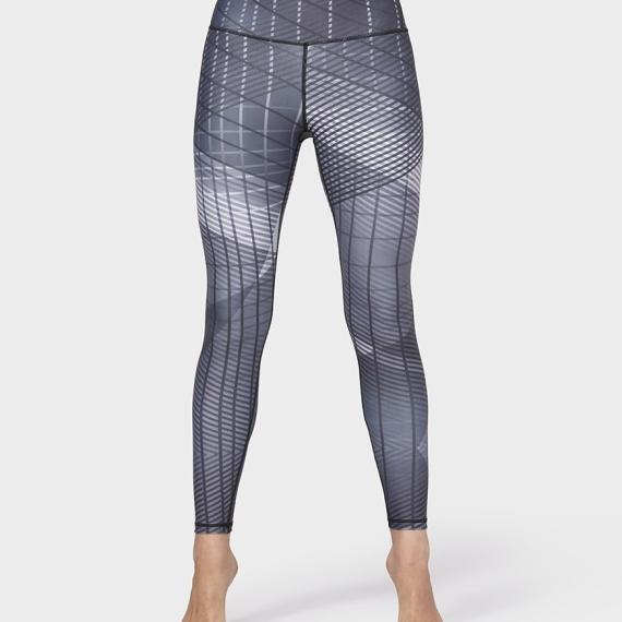Dlouhé legíny Manduka Geo Checkered Legging Black Multi
