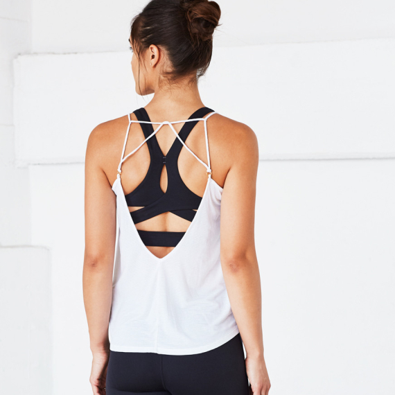 Manduka Breeze Strappy Tank White