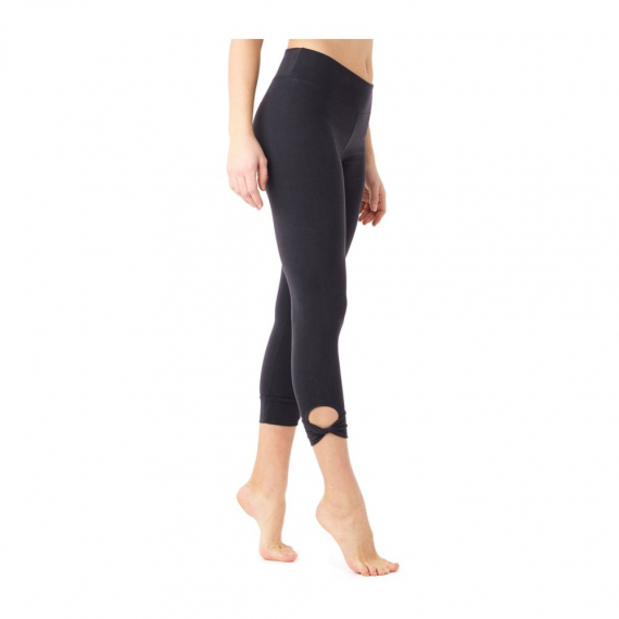 Mandala Cropped Legging Black