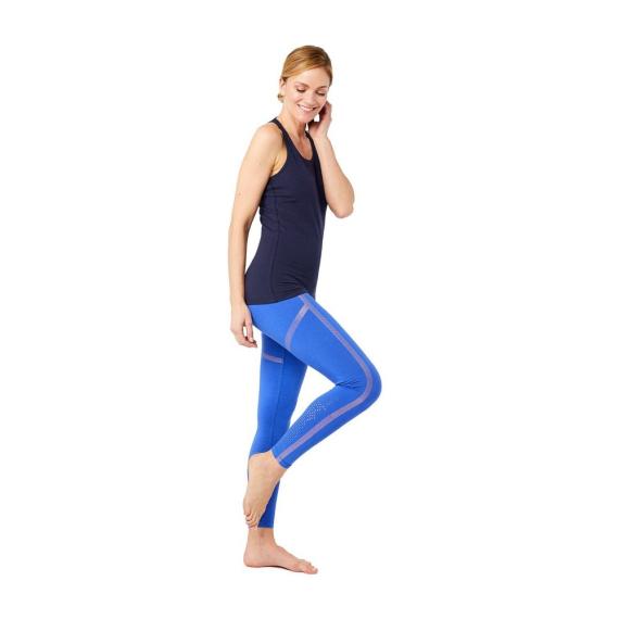 Mandala Punched Legging Blue Screen
