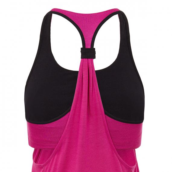 Mandala Soft Overlay Top Pink