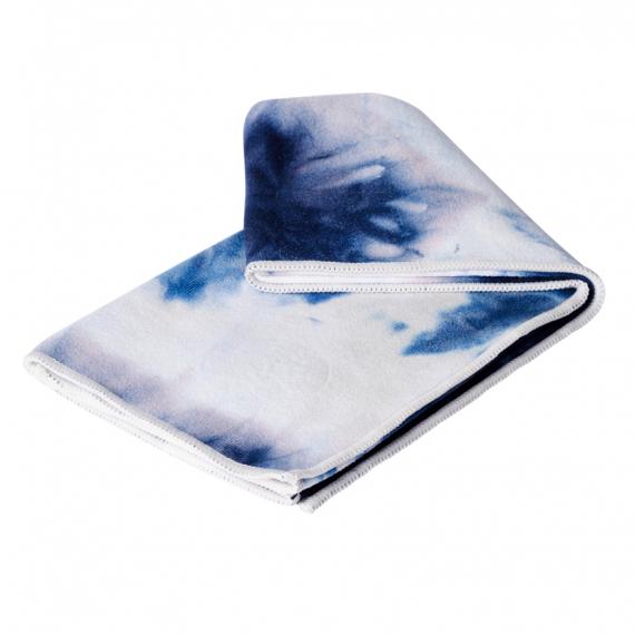 Velký jógový ručník Manduka eQua® Mat Towel Camo Navy Tie Dye