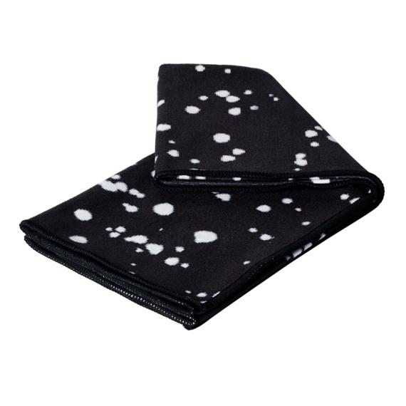Velký jógový ručník Manduka eQua® Mat Towel Mini Dot Black