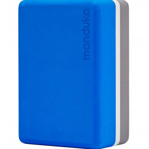Bloček na jógu Manduka Foam Block Be Bold Blue