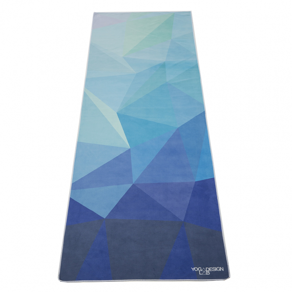 Ručník na jógu Yoga Design Lab Mat Towel Geo Blue
