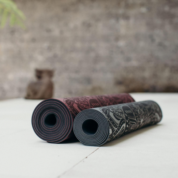 Yoga Design Lab Infinity Mat 3mm Mandala Charcoal