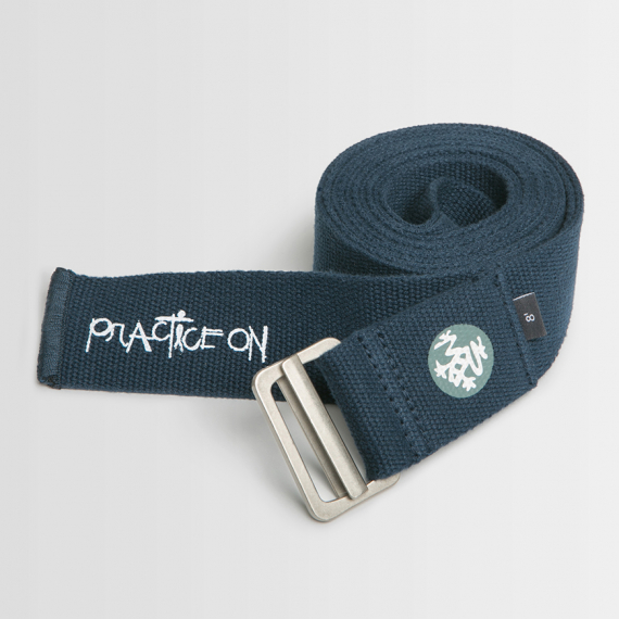 Pásek na  jógu Manduka Align Yoga Strap Midnight