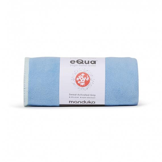 Malý jógový ručník Manduka eQua® Hand Towel Clear Blue