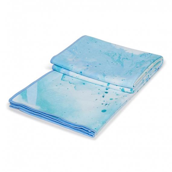 Velký jógový ručník Manduka eQua® Mat Towel Splatter Splash Blue