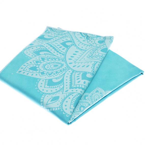 Ručník na jógu Yoga Design Lab Mat Towel Mandala Turquoise