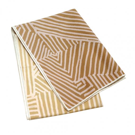 Yoga Design Lab Mat Towel Optical Gold