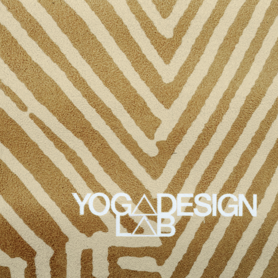 Cestovní designová jogamatka Yoga Design Lab Travel Mat Optical Gold