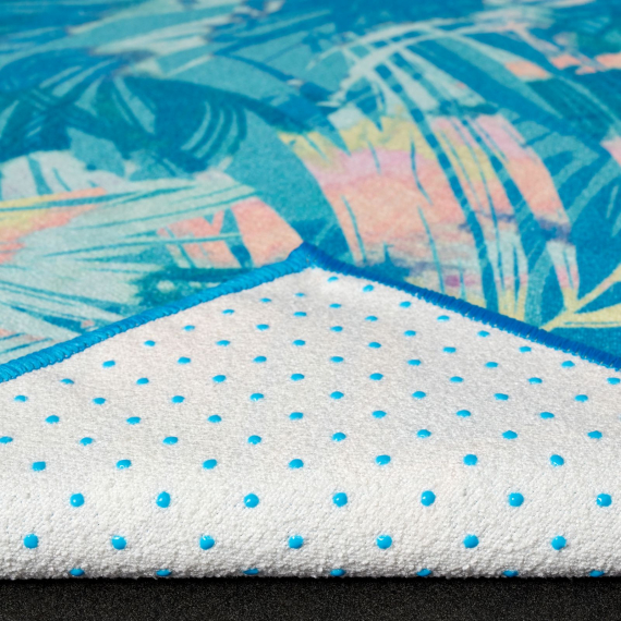 Velký ručník na jógu se silikononovými body Manduka yogitoes® Tropics Blue