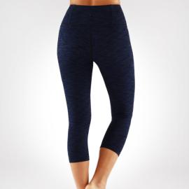 Manduka Essential Capri Legging Blue Melange