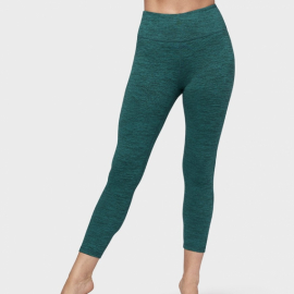 Manduka Essential Cropped Legging Heather Emerald