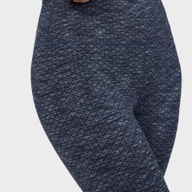 Manduka Essential Cropped Legging Indigo Jacquard