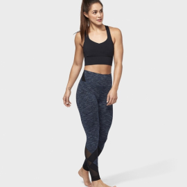 Manduka Movement Mesh Legging Indigo Jacquard