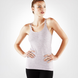 Manduka Cross Strap Cami Light Root Mini Stripe