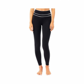 Mandala High Rise Legging with Ribbon Black