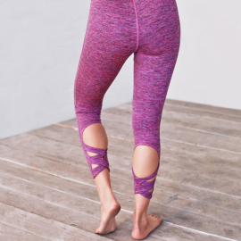 Manduka Cross Back Crop Legging Orchid Melange