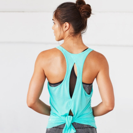 Manduka Breeze Open Back Tank Seafoam
