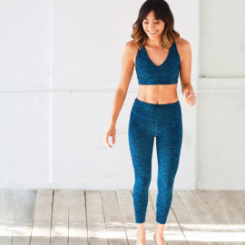 Manduka Cross Back Crop Legging Maldive Melange