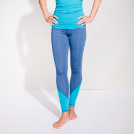 Mandala Color Block Legging Deep Sea/Tropical Green