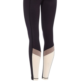 Mandala Colour Block Tights Black