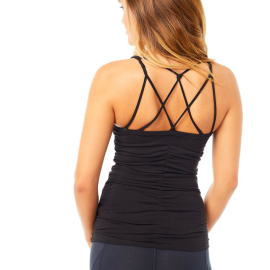 Mandala Cable Yoga Top Black
