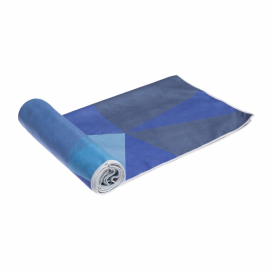 Yoga Design Lab Mat Towel Geo Blue