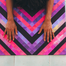Yoga Design Lab Travel Mat Chevron Maya