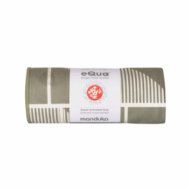 Manduka eQua® Mat Towel HD Handloom Gray - limitovaná edice