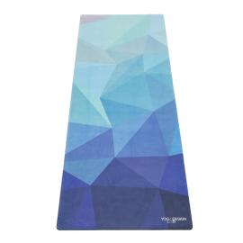 Cestovní designová jógamatka Yoga Design Lab Travel Mat Geo Blue