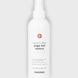 Manduka Natural Rubber Yoga Mat Restore 227 ml (8 oz) Gingergrass