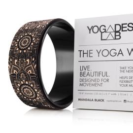 Yoga Design Lab Yoga Wheel Mandala Black