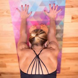 Cestovní designová jógamatka Yoga Design Lab Travel Mat Tribeca Sand