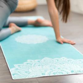 Yoga Design Lab Mat Towel Mandala Turquoise
