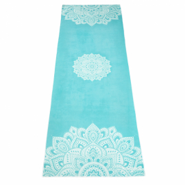 Yoga Design Lab Mat Towel Mandala Turquoise