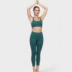 Manduka Essential Cropped Legging Heather Emerald
