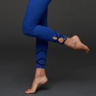 Mandala Contrast Tape Legging Performance Blue
