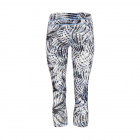 Mandala Athletic Capri Winter Ice Print