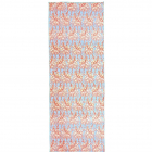 Velký jógový ručník Manduka eQua® Mat Towel HD Giraffes Blue - limitovaná edice
